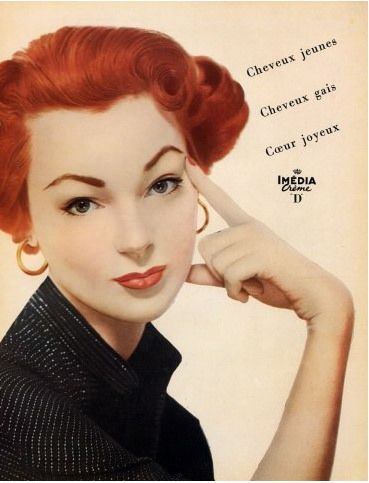 Ivy Nicholson For L Oreal 1953 Loreal L Oreal Professionnel Vintage Redhead