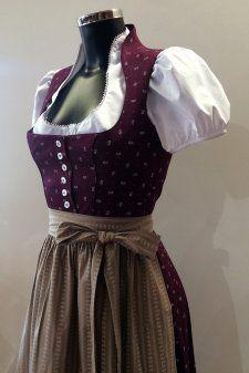 14e3c0b8bd3bb Dirndl Beere - mit Schneewittchenkragen - Vintage Style - 80 cm ...