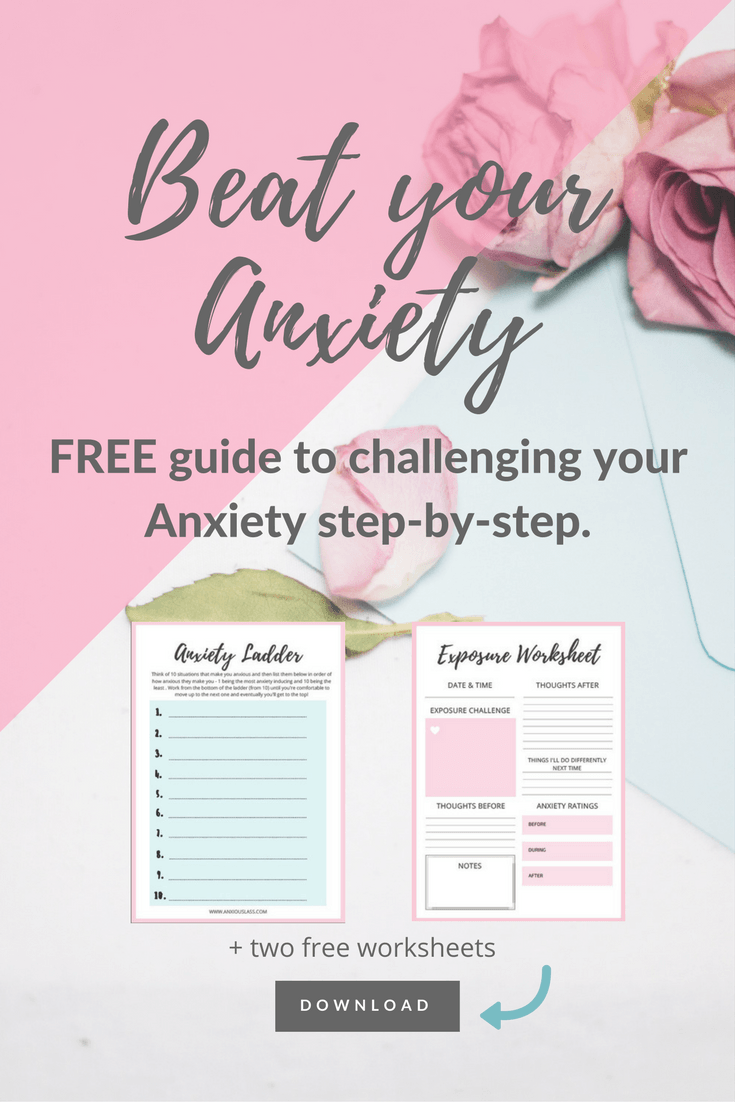 FREE anxiety guide. Exposure Challenge Guide - Challenge anxiety step-by-step