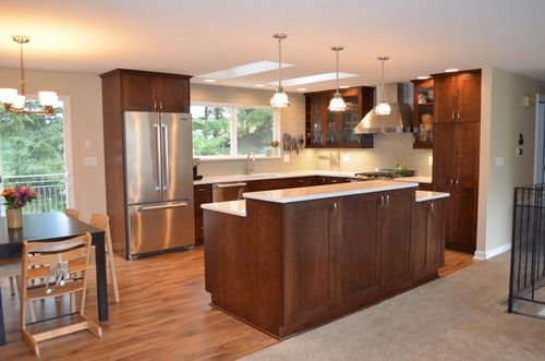 bothell split level home kitchen remodel transitional kitchen designs