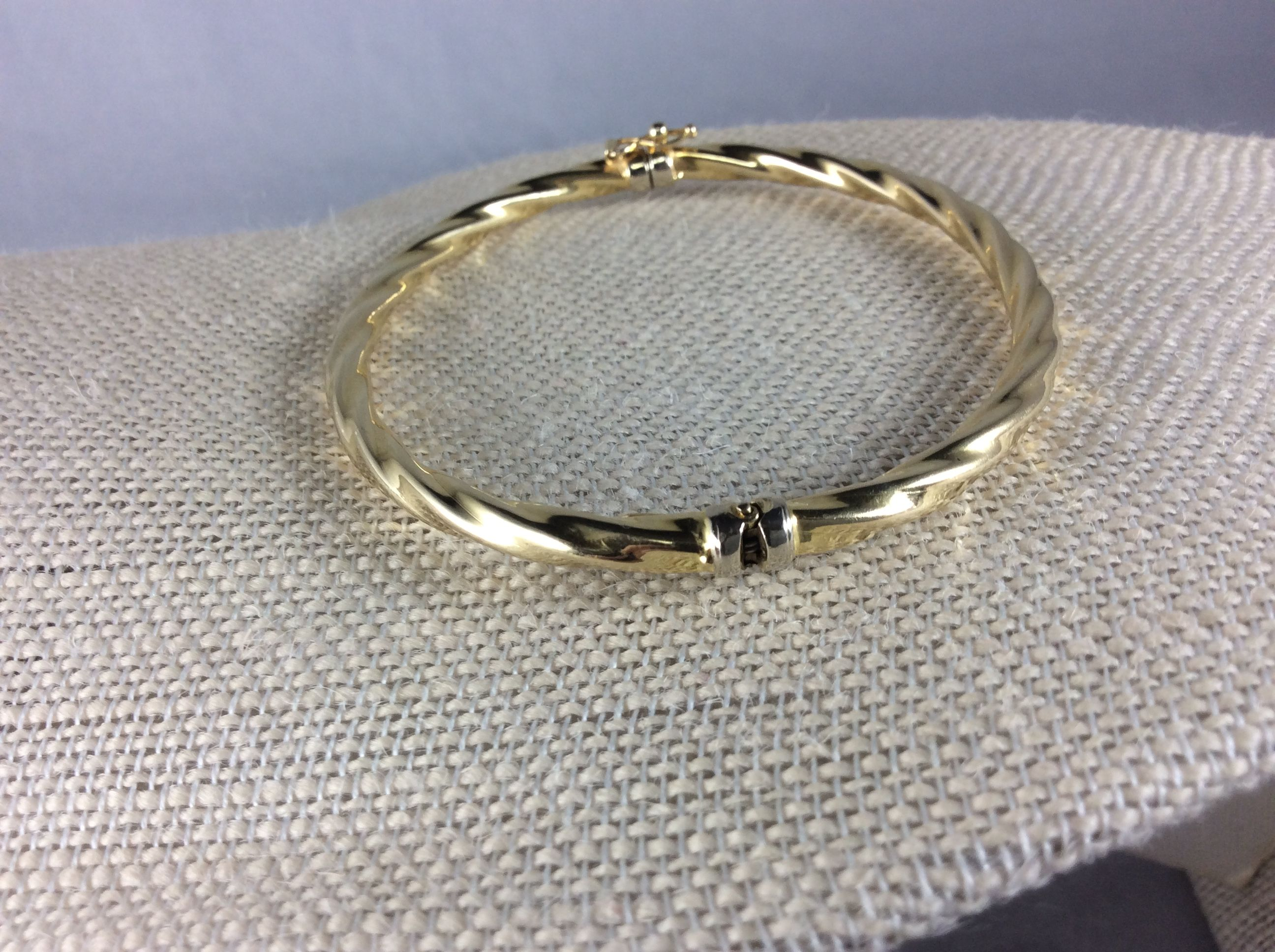etsy bangle hinged diamond by bracelets vincentsfinejewelry yellow brushed bracelet pin karat bangles gold on cut