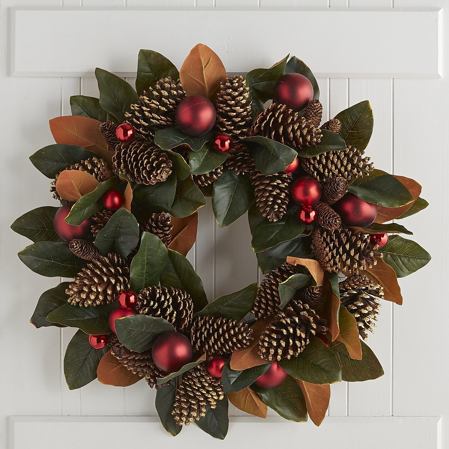 Oversized Faux Magnolia Pinecone Wreath Pier 1 Imports