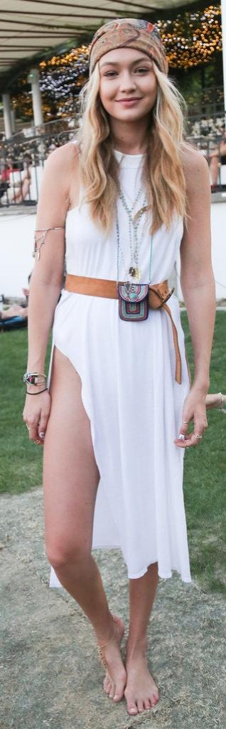 Gigi Hadid Shows Off Her Bohemian California Girl Style at a Summer music festival