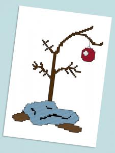 Charlie Brown S Christmas Tree Free Cross Stitch Pattern Cross Stitch Tree Cross Stitch Christmas Ornaments Cross Stitch Patterns Christmas