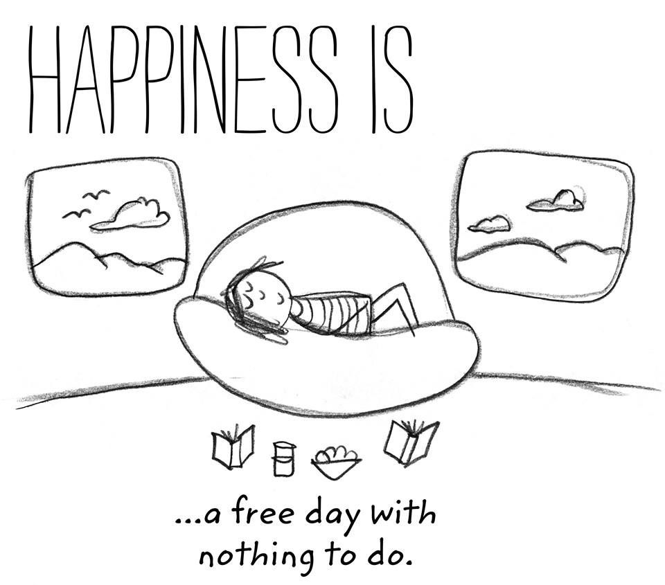 happiness is    a free day
