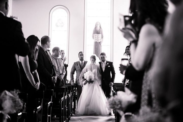 Here comes the bride #weddingphoto #churchwedding