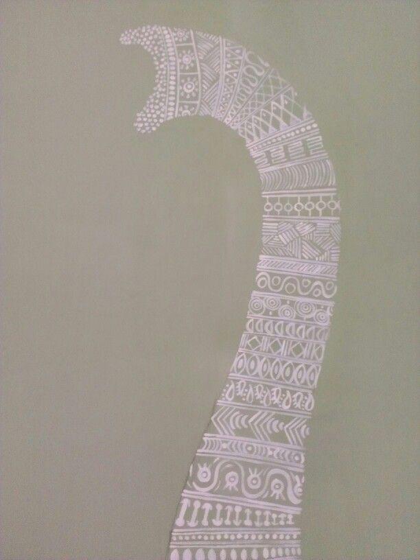 Elephant wall drawning