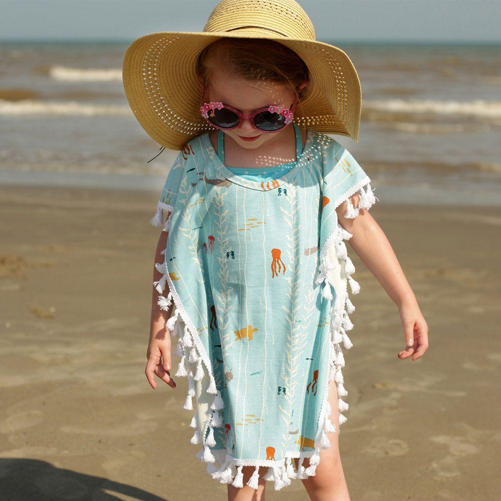 Baby Girl Summer Tassel Beachwear Swimwear Bikini Wear Cover Up Kaftan Kid Dress