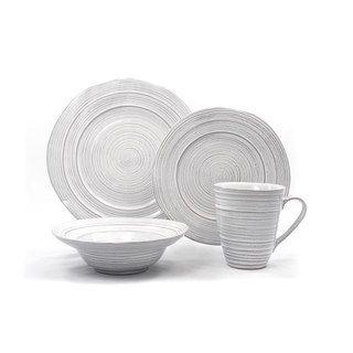 Barolo White Ceramic 16-piece Dinnerware Set | Overstock.com Shopping - The Best  sc 1 st  Pinterest & Gaia Barolo White Ceramic 16-piece Dinnerware Set (Bella Terra ...