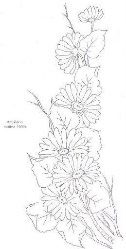 Flores Moldes Picasa Web Albums Pintura En Tela Pinterest