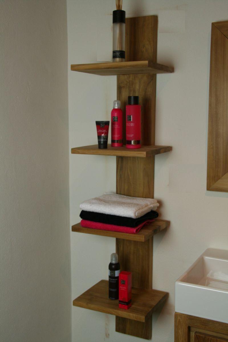 badkamermeubelen van teakhout - badkamers - teak zijkasten - teak