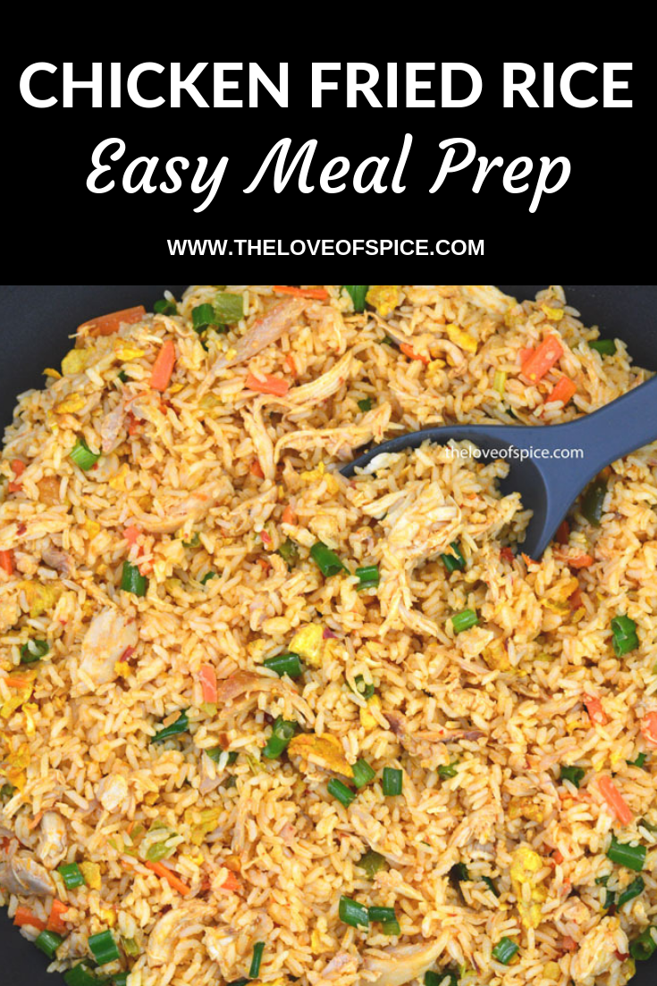 Easy Chicken Fried Rice Meal Prep Recipe Easy Rice Recipes