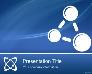 Free physics lessons powerpoint template for science and online free physics lessons powerpoint template for science and online lessons with blue background and atom in the slide master image toneelgroepblik Gallery
