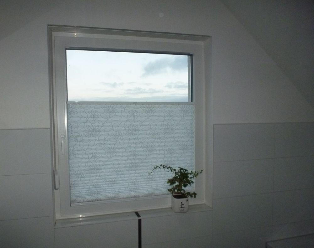 Sichtschutz badezimmer ~ Badezimmer plissee mit motiv badezimmer