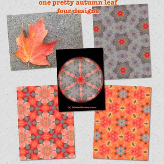 Graphic design of a red and yellow maple leaf (click picture)  #mandala #kaleidoscope #homedecor
