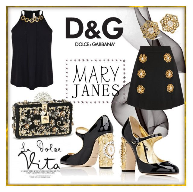 """""""Mary Janes - Dolce & Gabbana"""" by fashionistamummy83 on Polyvore featuring Dolce&Gabbana, MICHAEL Michael Kors, Fred Leighton, dolceandgabbana and maryjanes"""