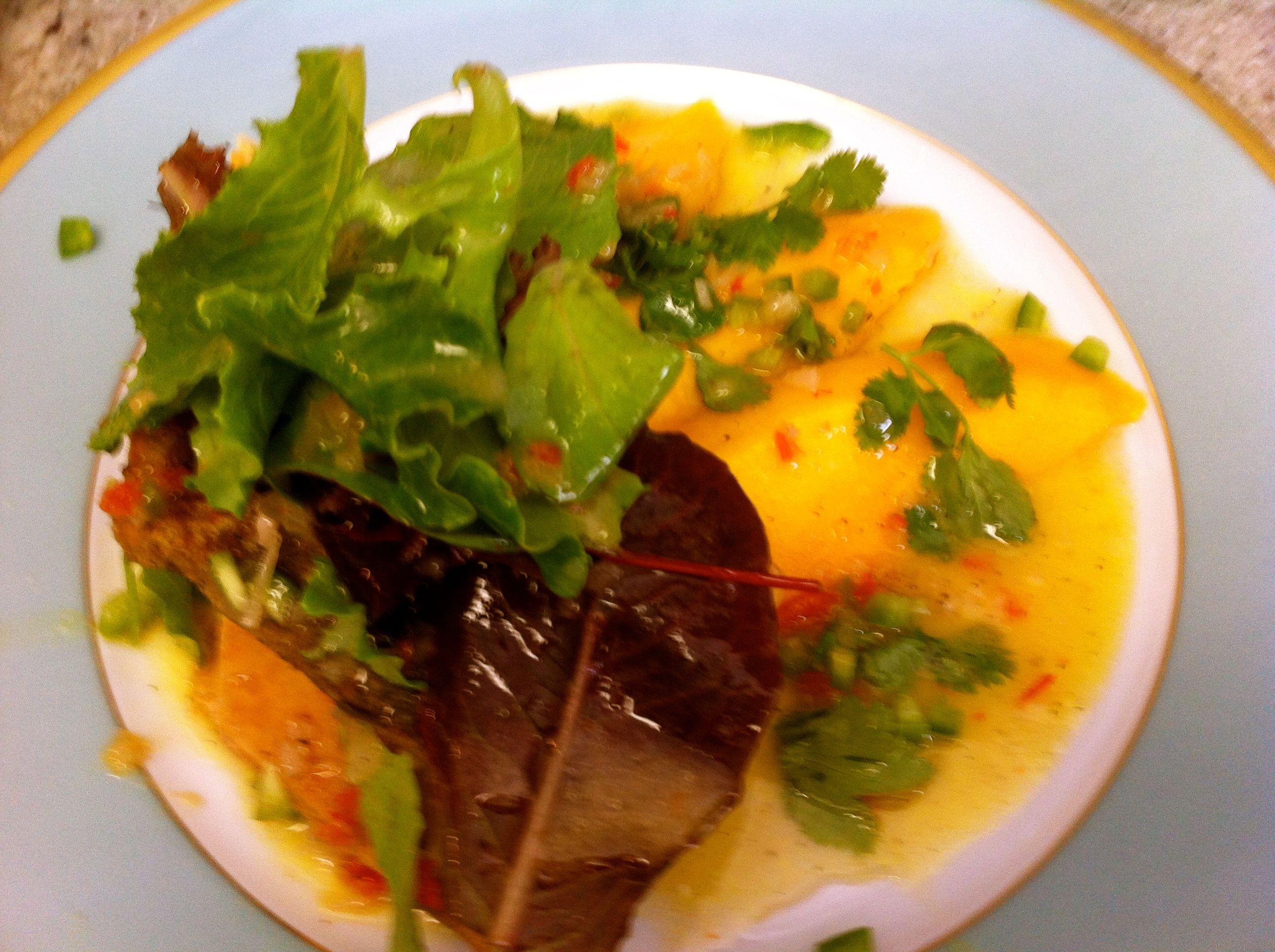 Haitian mango francique salsa at Chez Elle