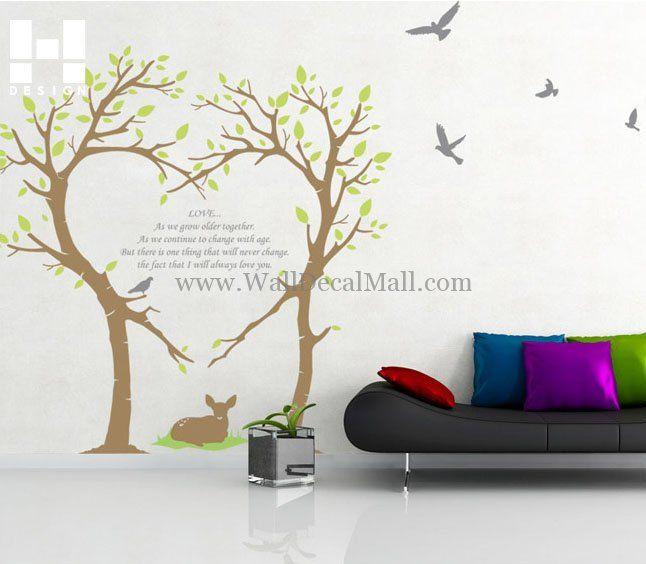 Bambi Love Tree Wall Decals U2013 WallDecalMall.com