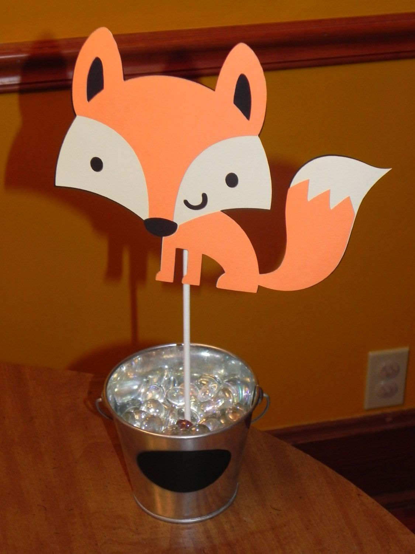 Fox Birthday Party Centerpiece by JLMpartyshop on Etsy, $5.00