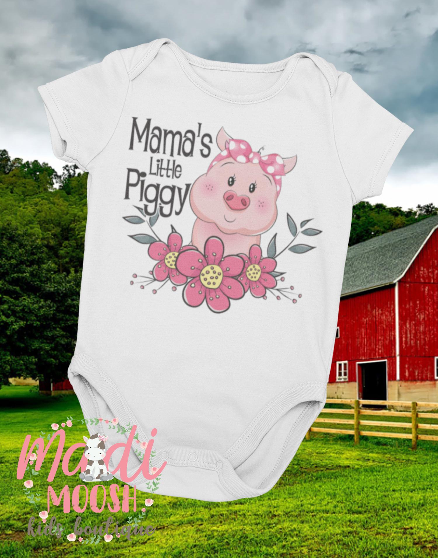 5bf8fd379d2b2 Mama's Little Piggy Onesie ® | Pig Newborn Outfit | Baby Shower Gift ...