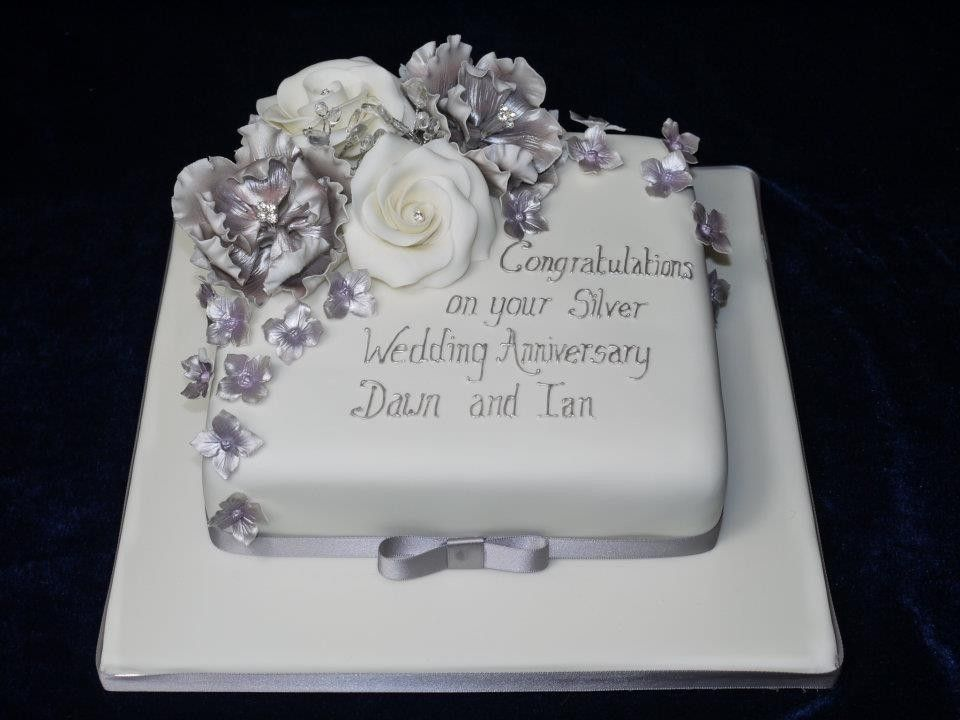 Cake Decorating Wedding Anniversary : one tier white cake decoration ideas - Google Search ...