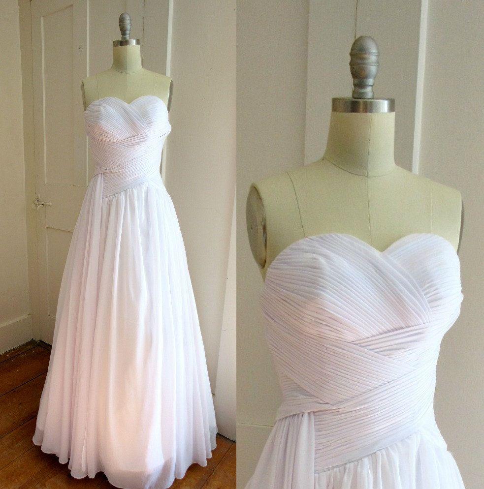 Strapless Chiffon White Wedding Gown - Snow White Wedding Dress ...