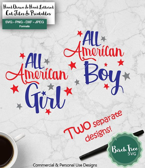All American Girl Svg All American Boy Svg American Svg Etsy All American Boy All American Girl American Girl