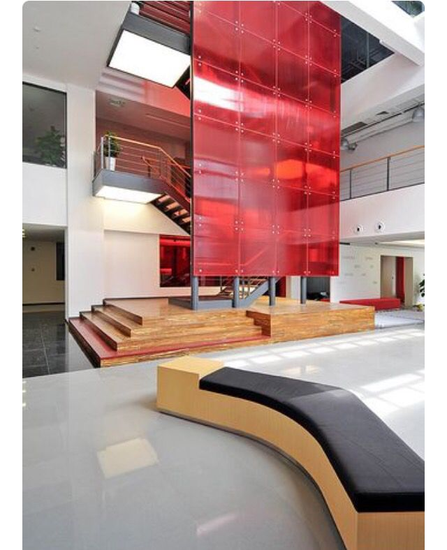 Pin 6 I Came Across This Striking Acrylic Feature Wall On Flicker The Red Make Commercial Interior Design Corporate Interior Design Corporate Office Design