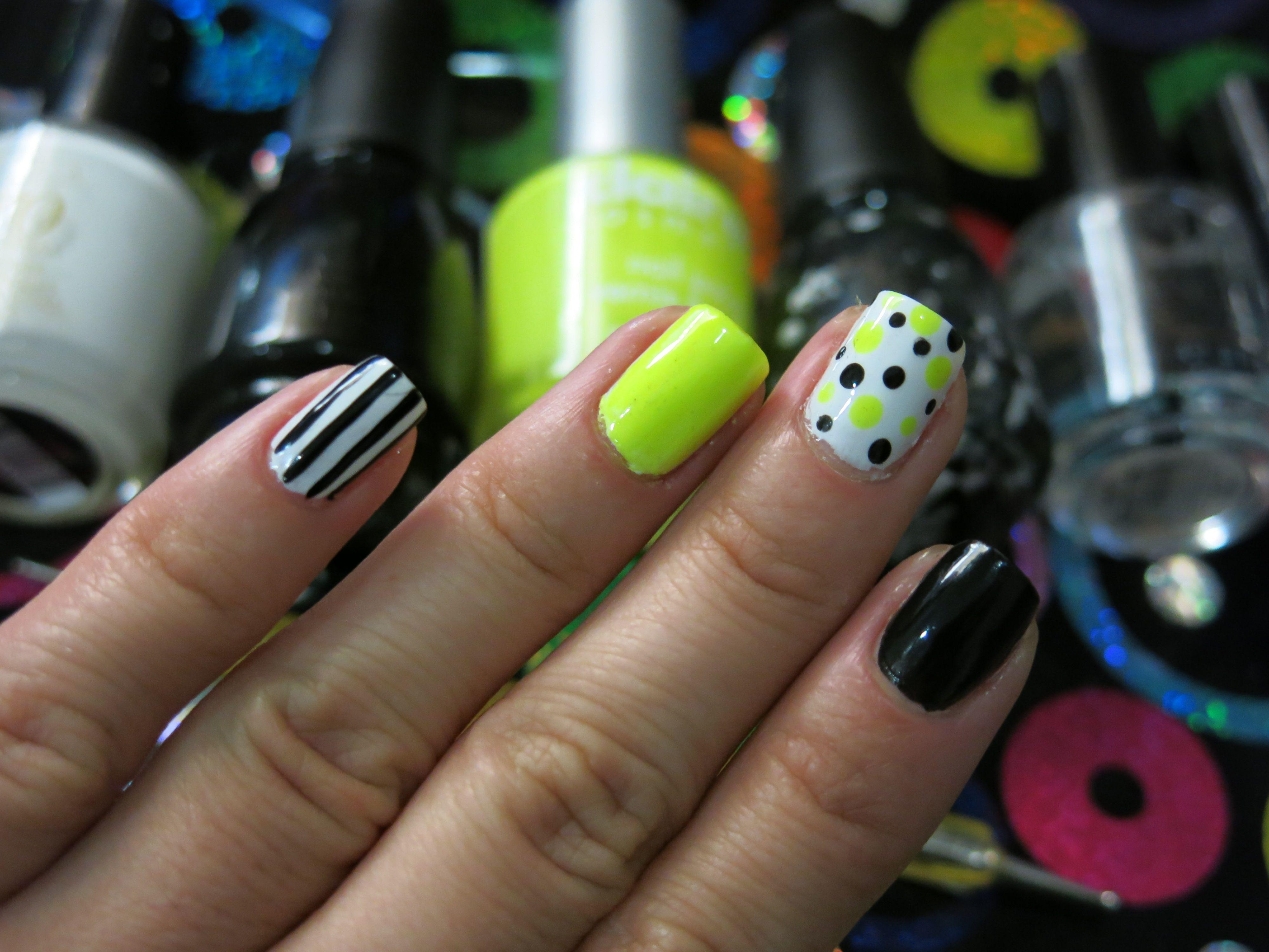 Secreto para la manicura de neon - http://www.xn--todouas-8za.com ...