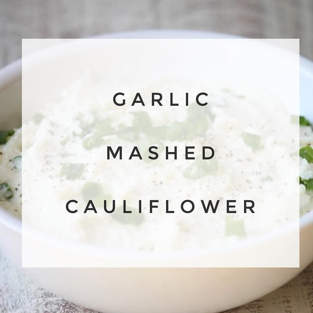Garlic Mashed Cauliflower This recipe is bomb. Someone shared this with me a few months ago and it's a game changer. I don't like cauliflower by the way. So if you don't either then this is for you because it doesn't taste like cauliflower at all. Ingredients: 1 head of Cauliflower Cut into Florets 1 tablespoon olive oil I clove garlic smashed  1/4 cup grated Parmesan cheese 1 tablespoon reduced fat cream cheese 1/2 teaspoon sea salt 1/8 teaspoon fresh ground pepper 1. Steam the cauliflower…