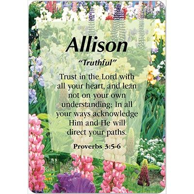 Image Result For Allison Name Meaning