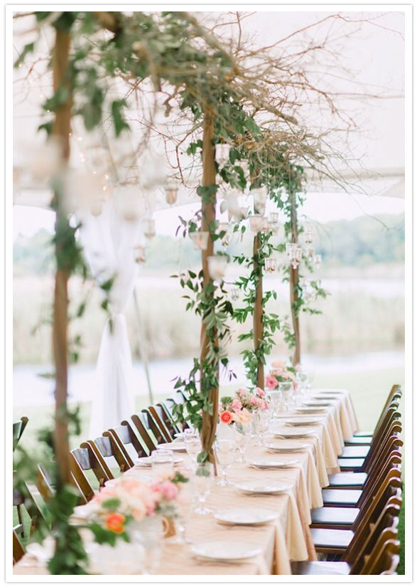 Idea For Ivy Decoration Table Settings Decor