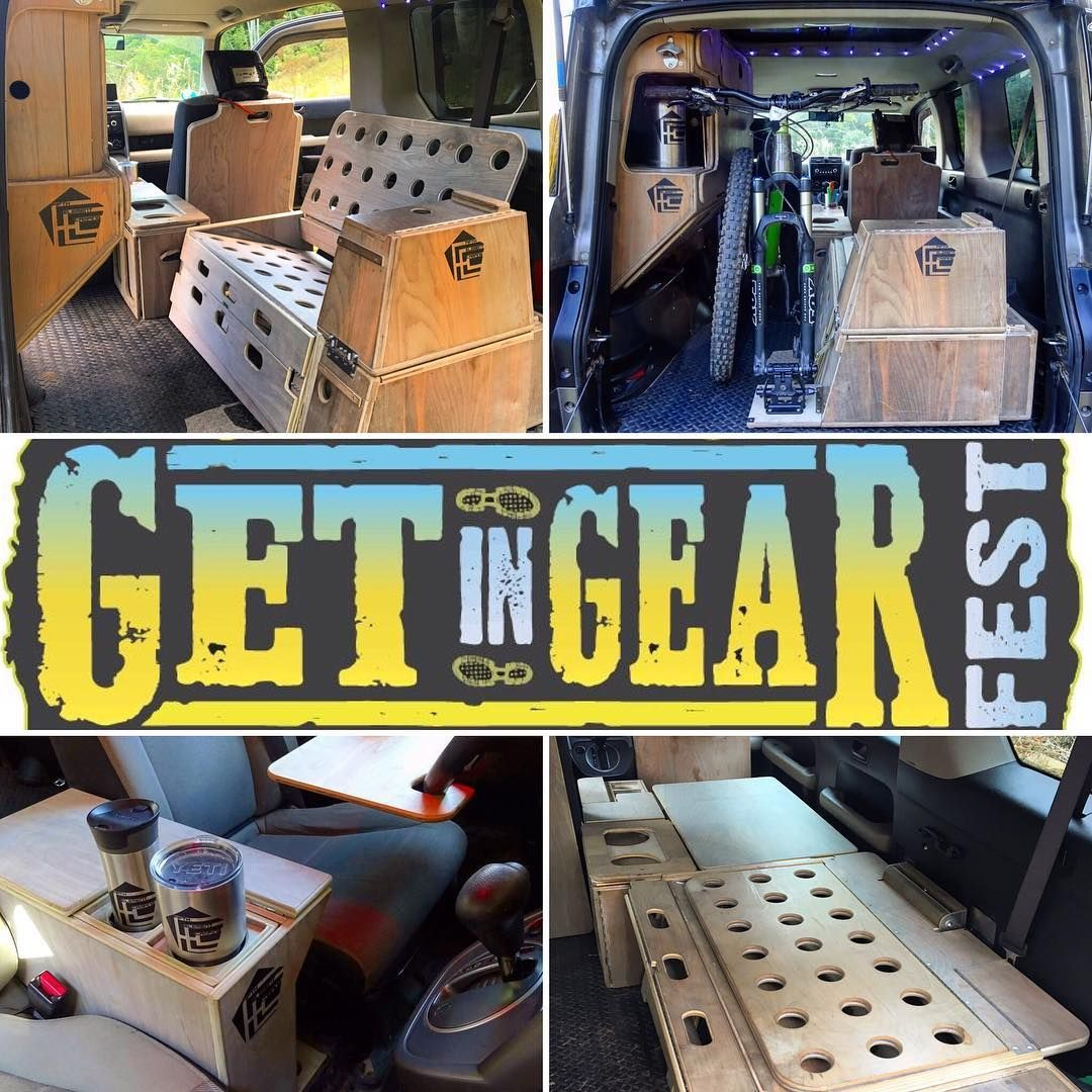 Two weeks away. Get in Gear Fest, presented by the @outdoorgearbuilderswnc is Saturday March 18th, noon-5pm @salvagestation in Asheville, North Carolina. ••••• #fifthelementcamping #hondaelement #microcamper #digitalnomad #longlivetheelement #getingearfest