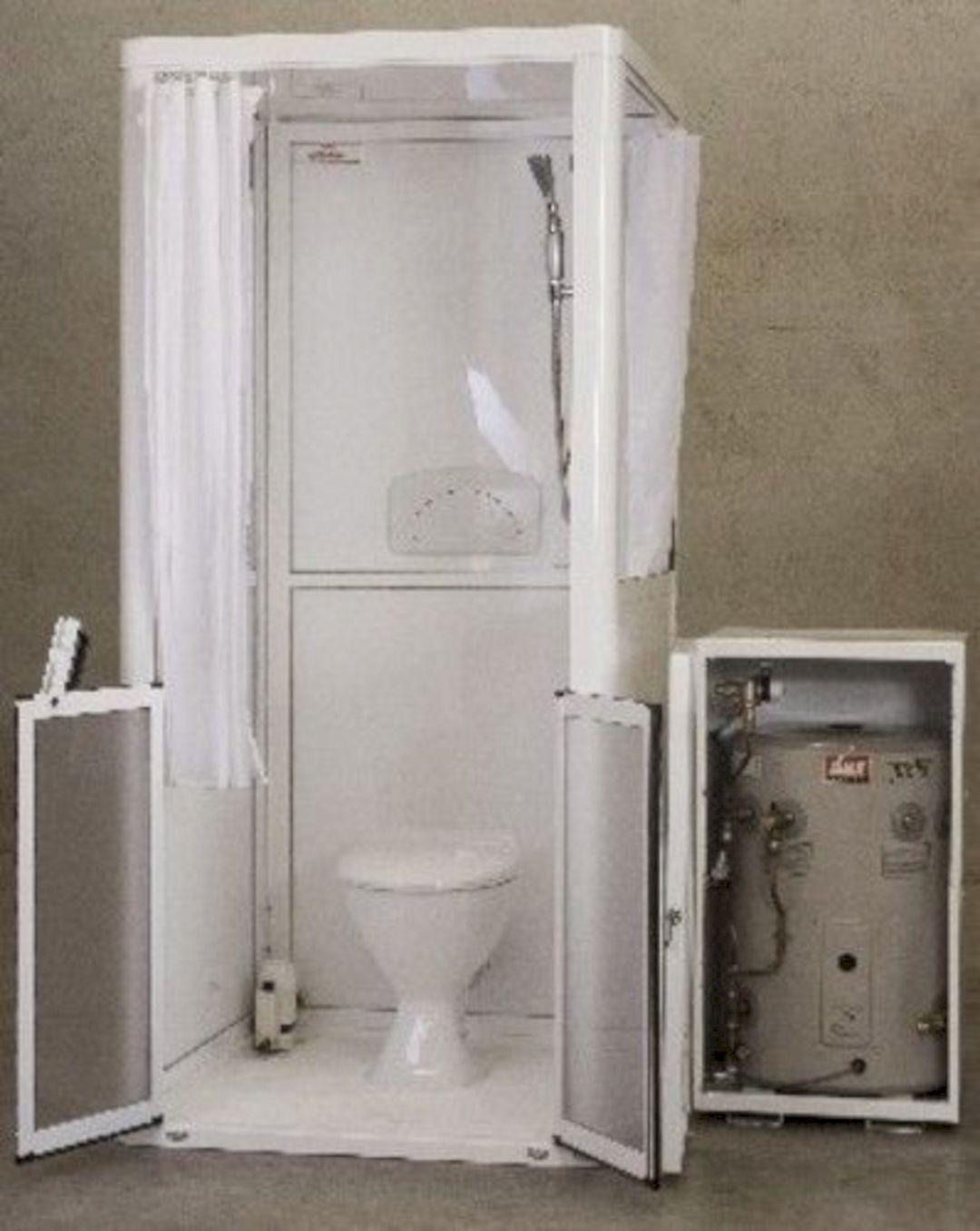 28 Gorgeous Rv Bathroom Shower Remodel Design Camping