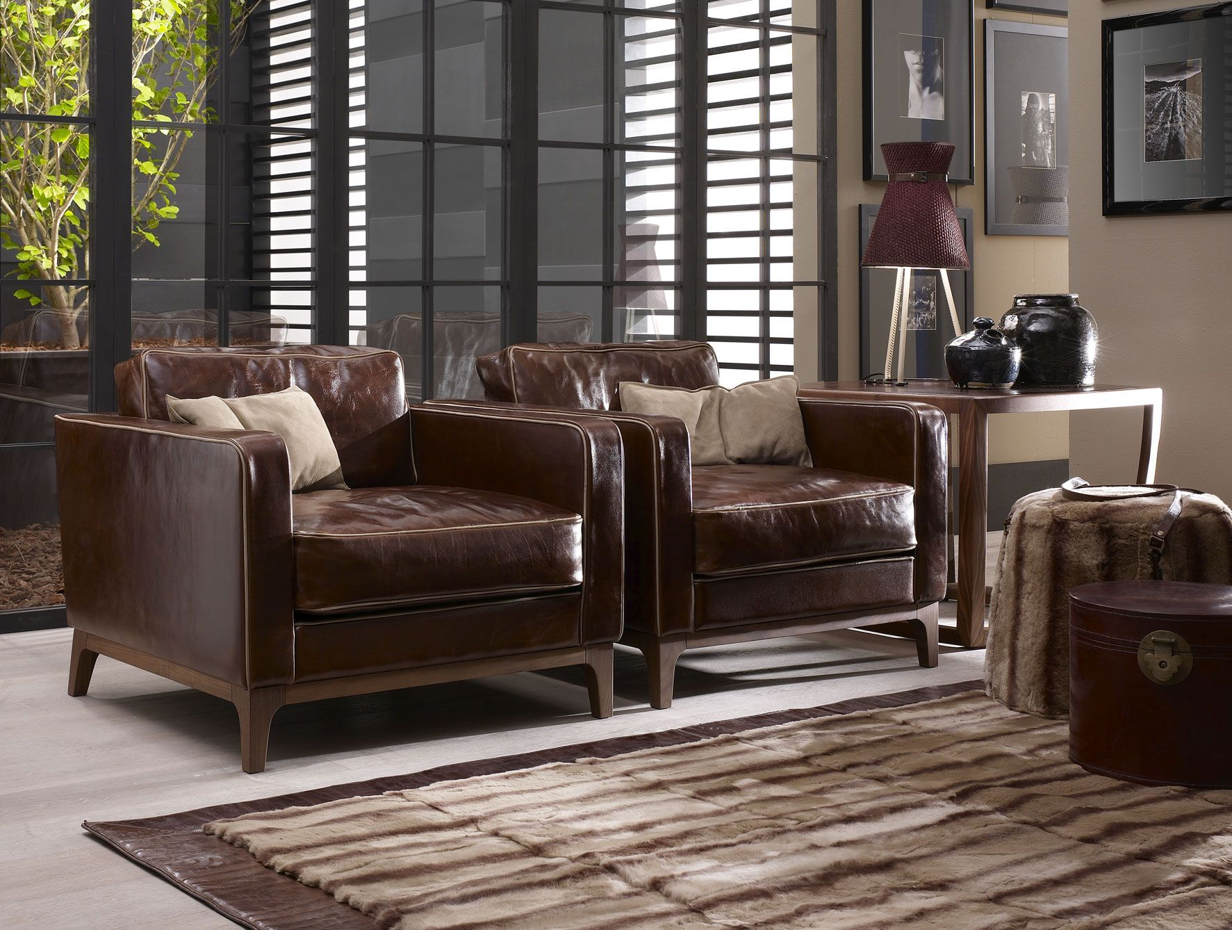 Ginny Contemporary Italian Designer Italian Sofa Chair Handmade In Wood With Smooth Leather This Luxury Modern Furniture Collection Featur