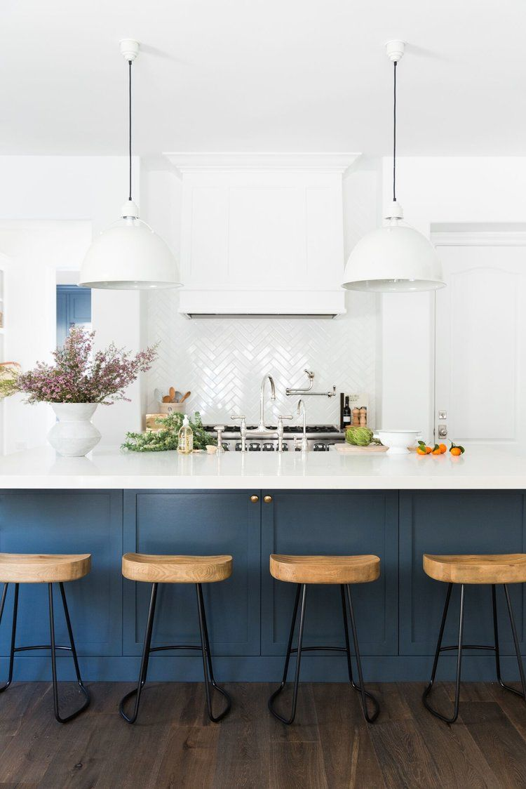 Calabasas Remodel: Kitchen + Laundry Room Reveal | Blue kitchen ...