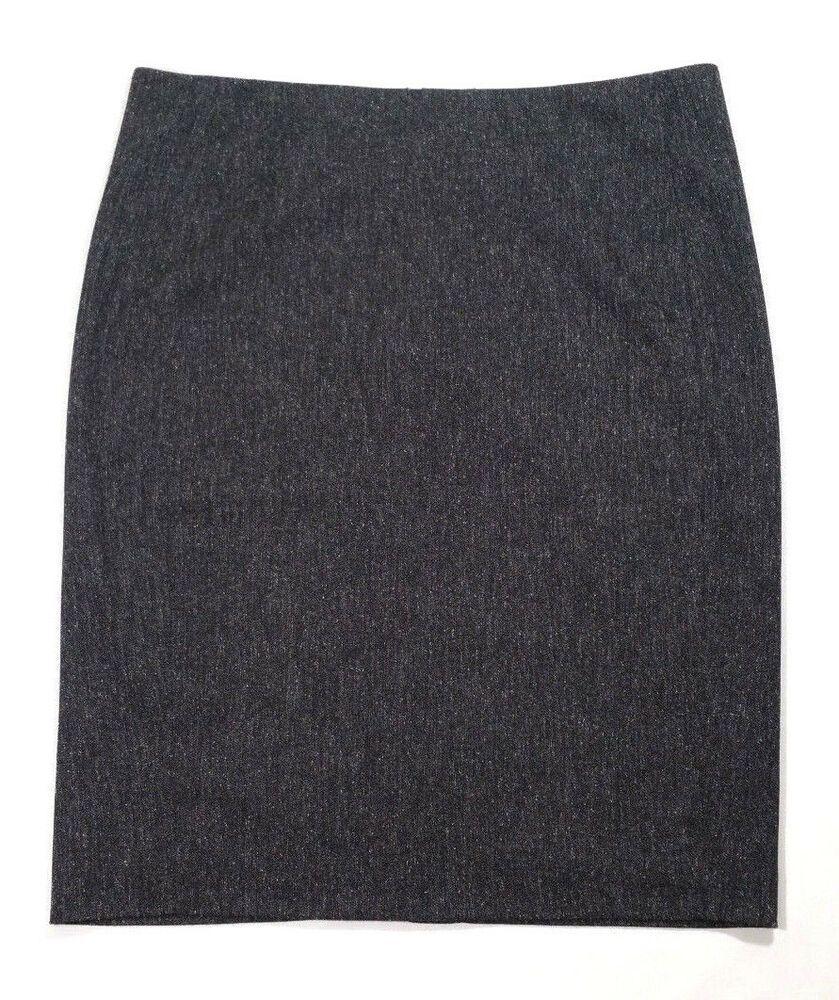 e2030f31779238 DKNYC Donna Karan Women Straight Pencil Skirt Stretch Heathered Gray Size  10 #DKNY #StraightPencil