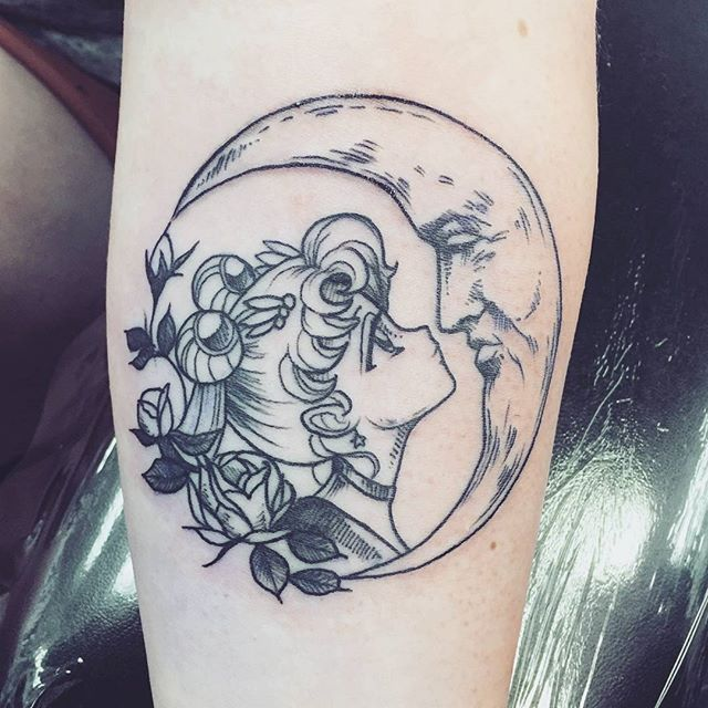 So in love with this tattoo Credit: Watersofgalene Sailor moon tattoo