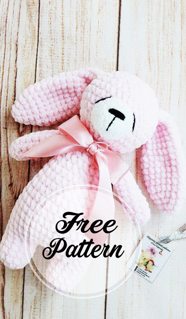 Patrón de ganchillo sin amigurumi de bunny para dormir Part 1