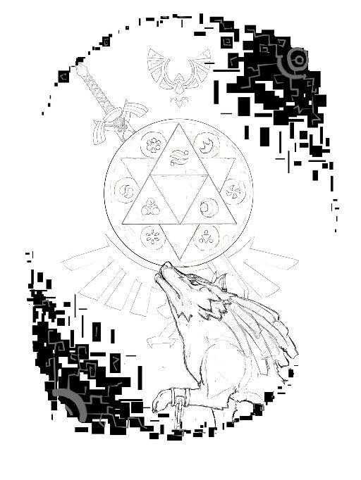 The Legend Of Zelda Twilight Princess For Tattoo Tatuajes De Arte De Lineas Arte De Videojuegos Diseno De Tatuaje Geometrico