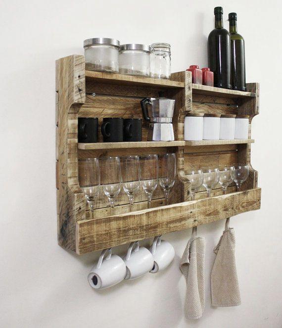 Houten Keuken Creative Kitchen Backsplash Ideas: Pallethouten Keuken Rek / Kruiden Rek Van De Houtshop