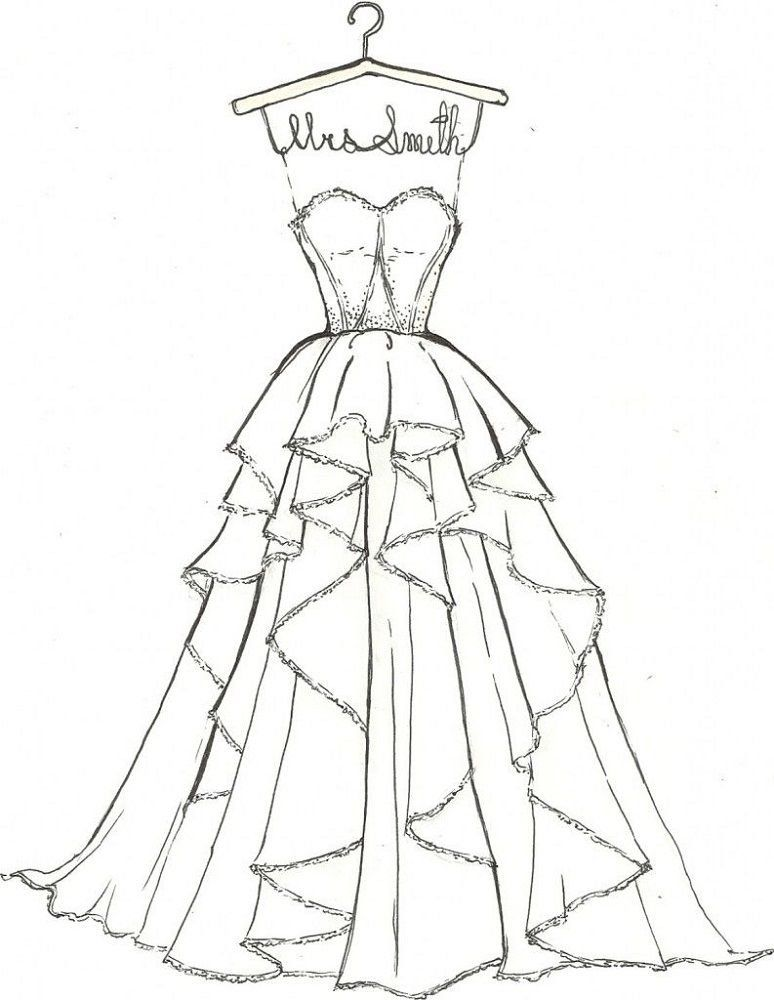 Wedding Dress Coloring Pages For Girls 1000 In 2020 Barbie Dress Pattern Free Wedding Dress Patterns Doll Wedding Dress Pattern