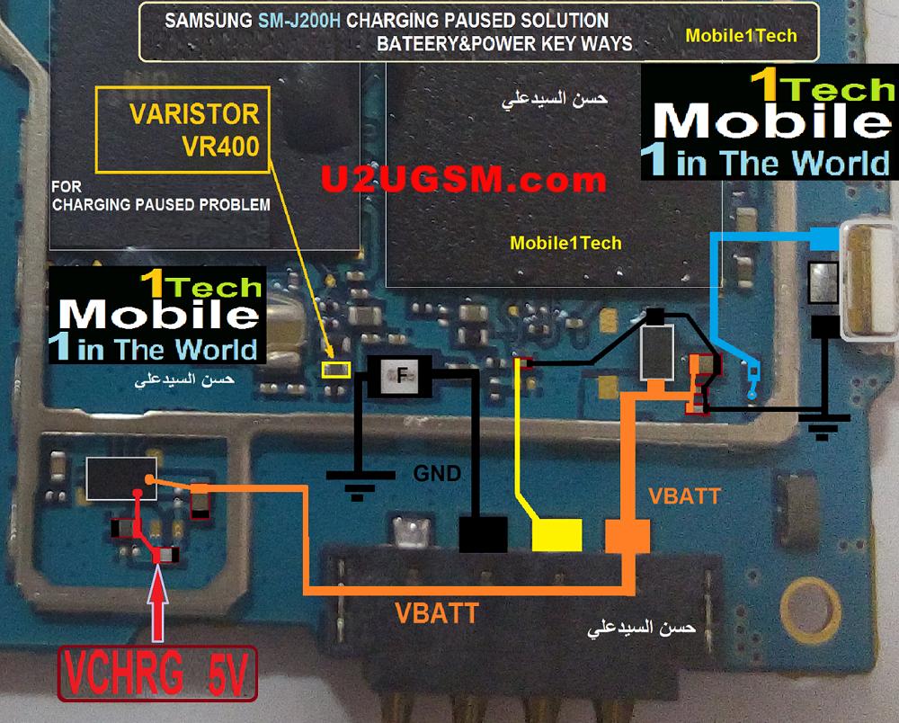 Samsung J2 Battery Connector Terminal Jumper Ways | SAMSUNG