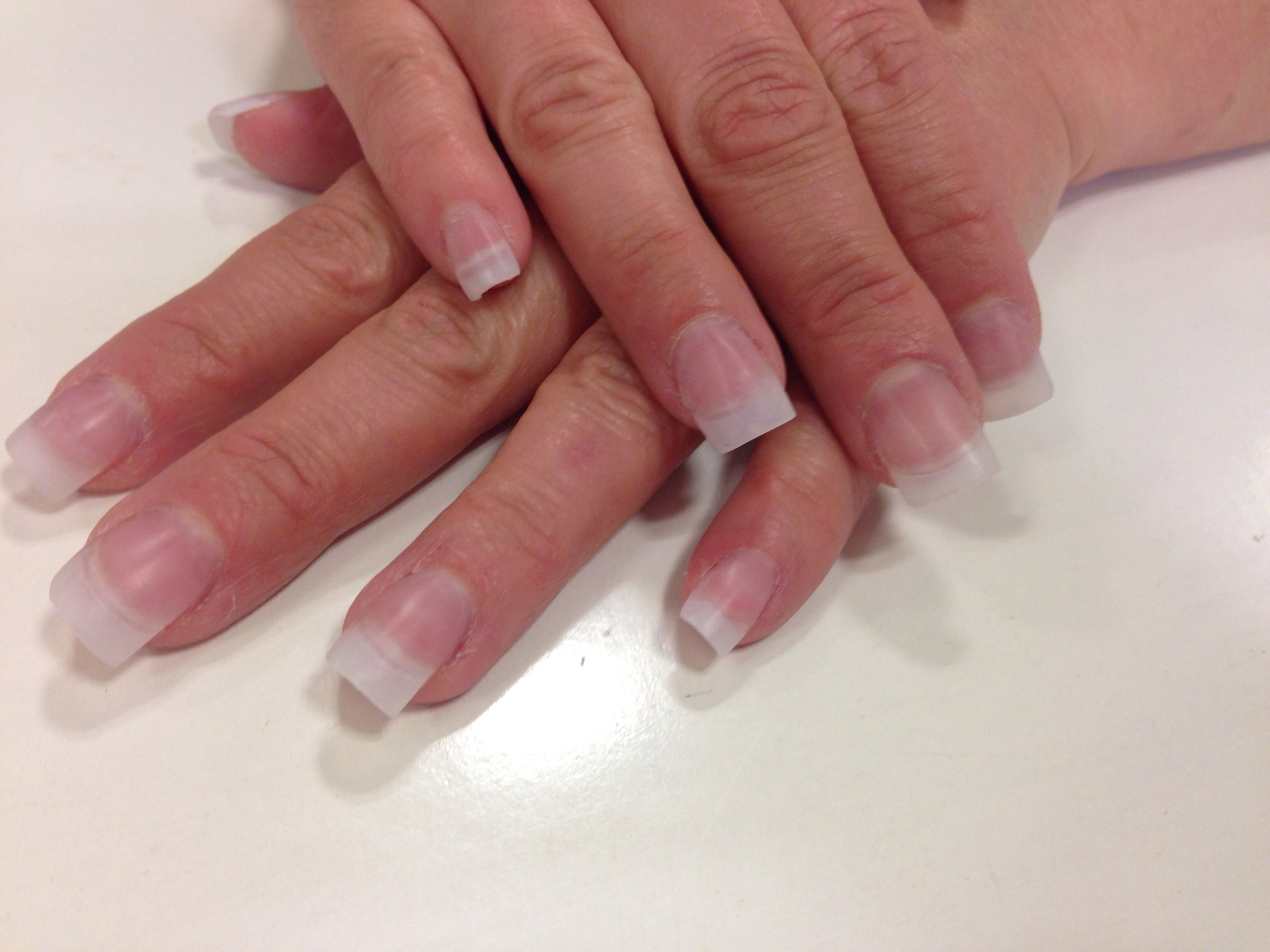 Debbie\'s natural acrylic nails | Nails / Toes | Pinterest | Natural ...