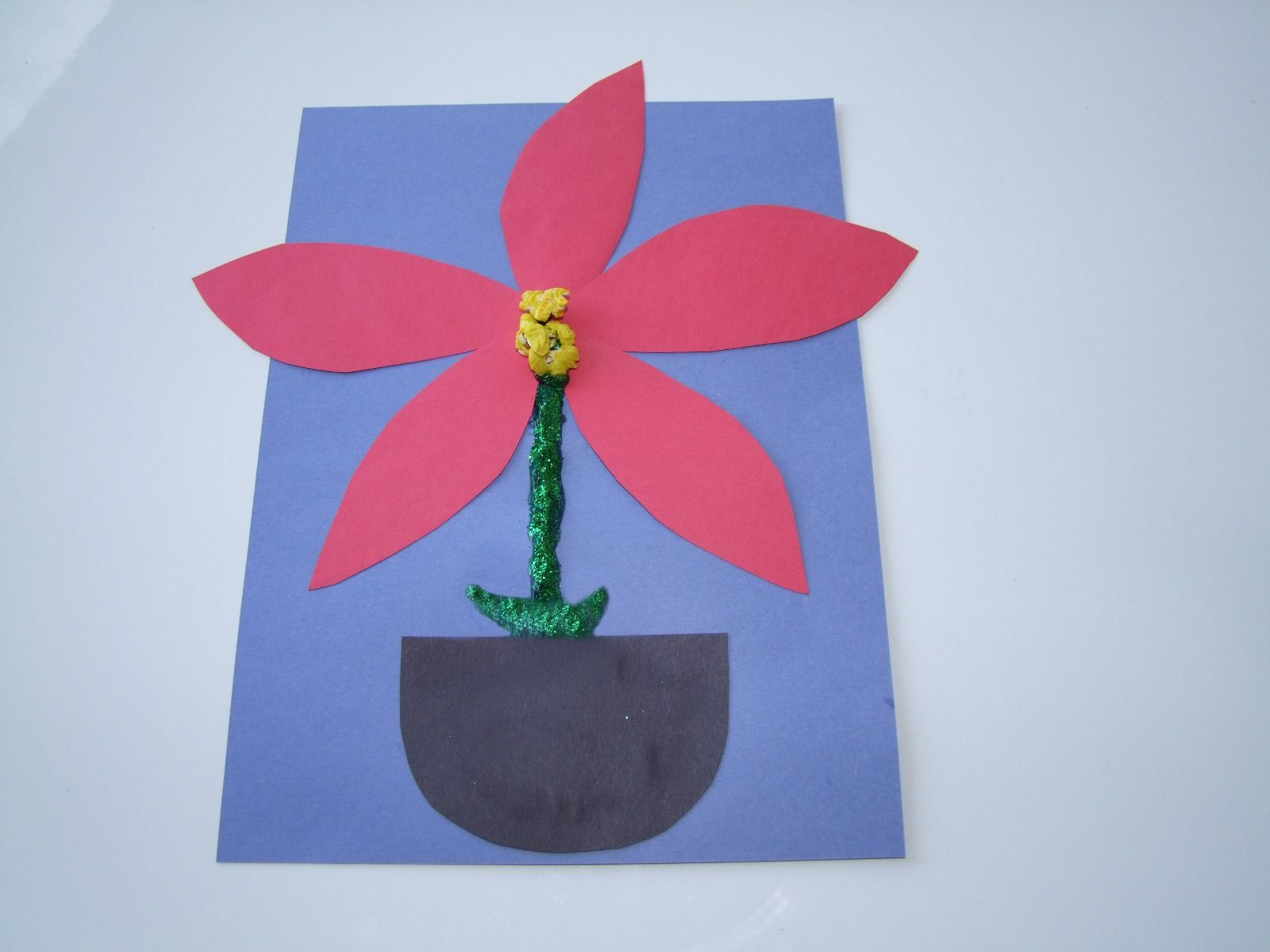 Christmas Song And And Easy Make A Poinsettia Craft For Kids