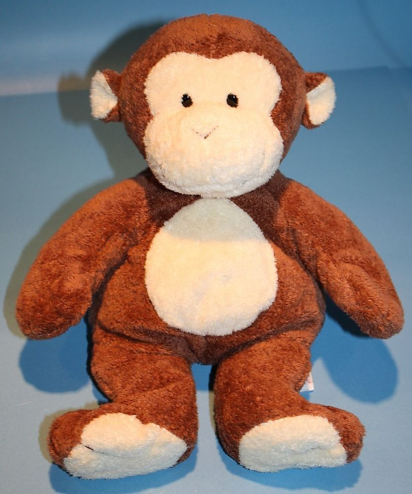 Ty Pluffies Monkey Dangles brown plush baby toy Tylux