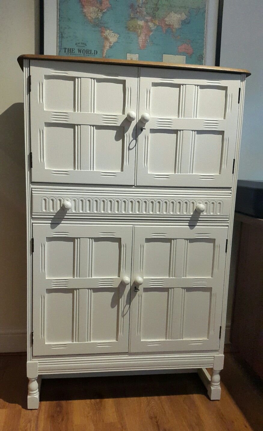 1960s cocktail cabinet painted and transformed into