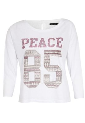 Blusa FiveBlu Number Peace Branca