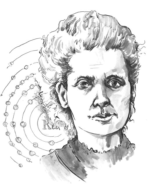iain welch: Marie Curie, famous people from history