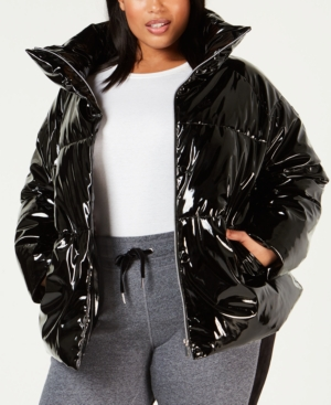 2bab2bbee114 Plus Size Shiny Puffer Jacket in 2019 | Products | Puffer jackets ...